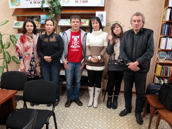 Российские писатели встретились с коллегами в Центральной библиотеке Горловки