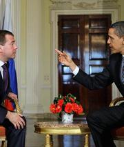 Медведев говорит, как бы отчитываясь перед Обамой